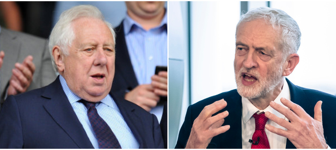 Lord Hattersley and Jeremy Corbyn