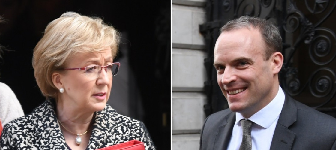 Andrea Leadsom and Dominic Raab