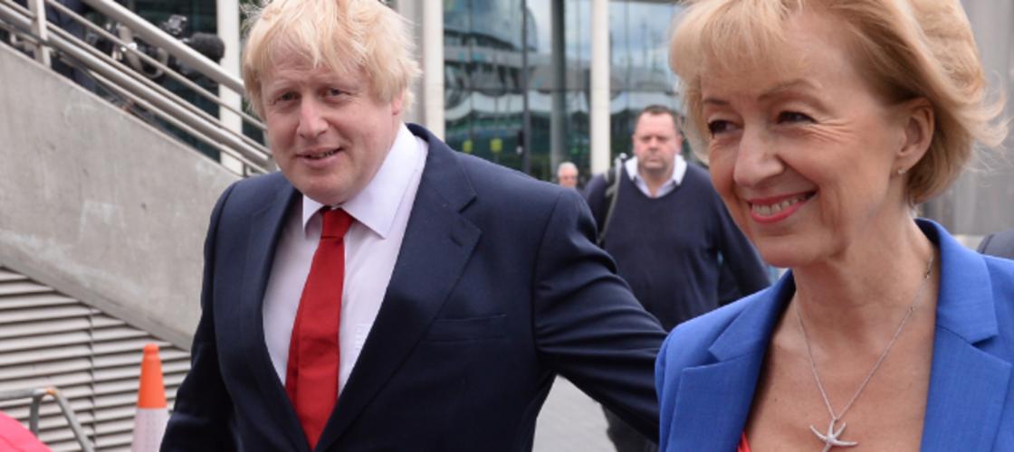 Andrea Leadsom and Boris Johnson