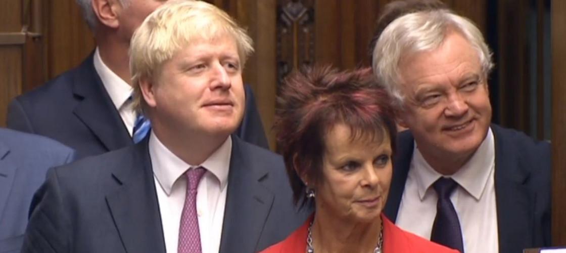 Boris Johnson, Anne Milton and David Davis in 2016