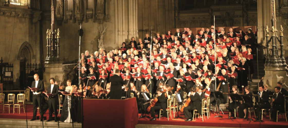 Parliament's choir in Westminster Hall