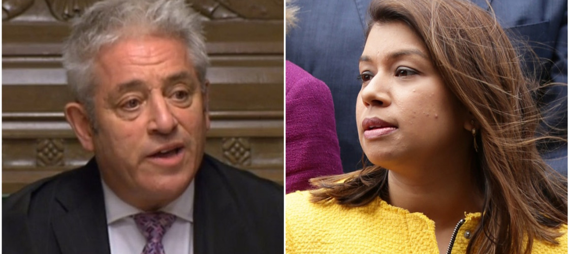 John Bercow and Tulip Siddiq