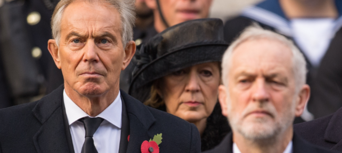 Tony Blair and Jeremy Corbyn