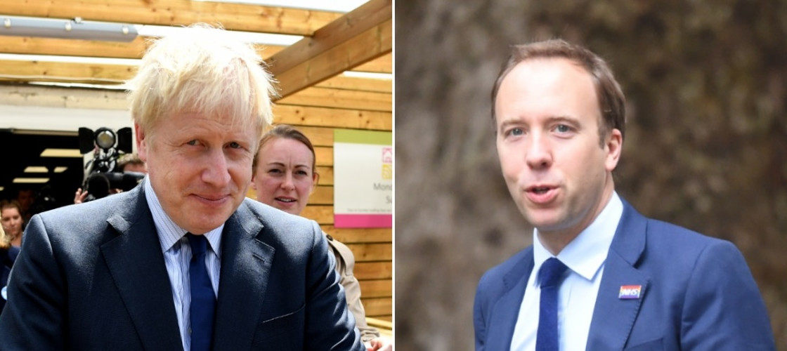 Boris Johnson and Matt Hancock