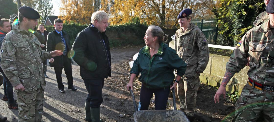 Boris Johnson visits flood-hit regions