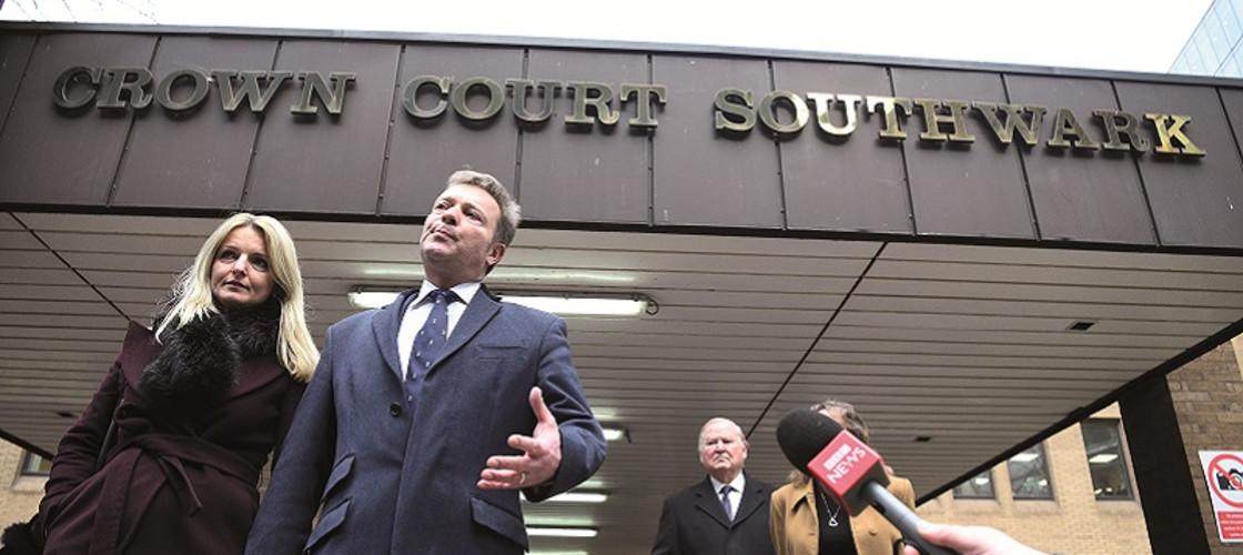 Craig Mackinlay outside Southwark Crown Court after he was cleared of breaking electoral expenses rules earlier this month
