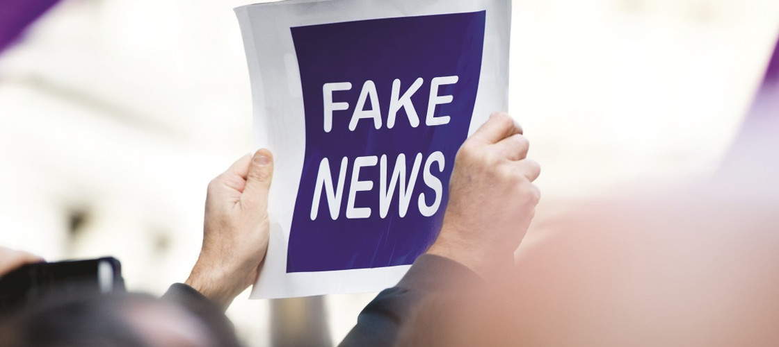 A fake news sign