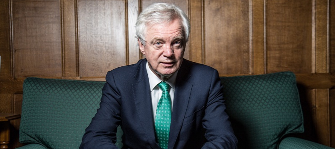 David Davis resigned as Brexit Secretary in July
