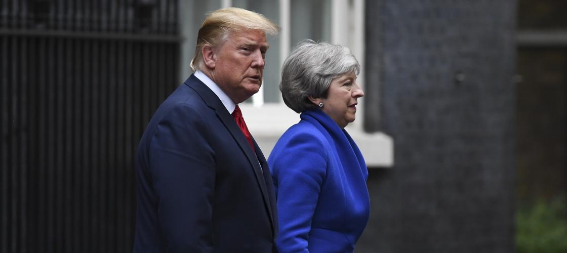 Donald Trump and Theresa May