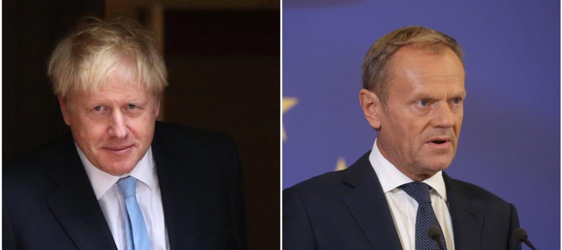 Boris Johnson and Donald Tusk