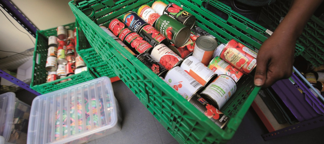 A delivery to a foodbank