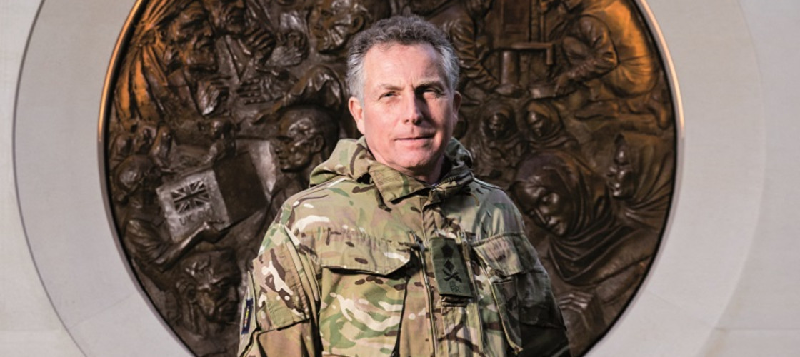 General Sir Nick Carter pictured outside the Ministry of Defence