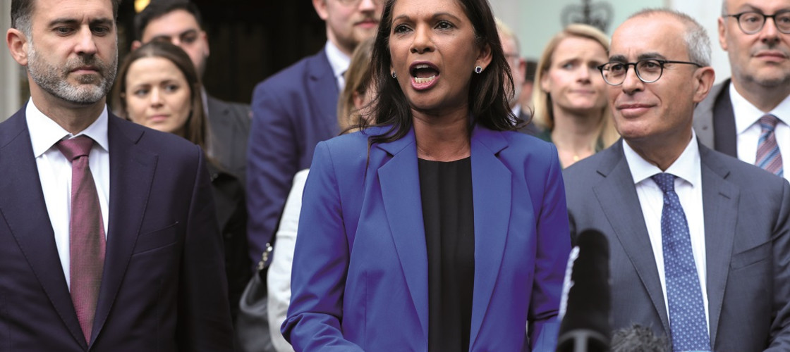 Gina Miller speaks to the media outside the Supreme Court in London, where judges ruled that Prime Minister Boris Johnson's advice to the Queen to suspend Parliament for five weeks was unlawful.