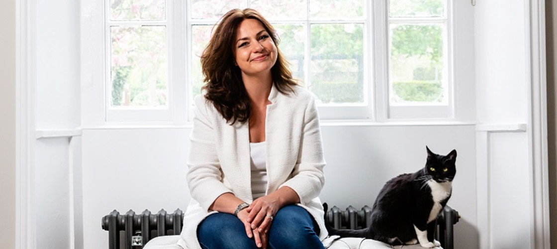 Heidi Allen, the interim leader of Change UK, pictured with her cat, Jessica