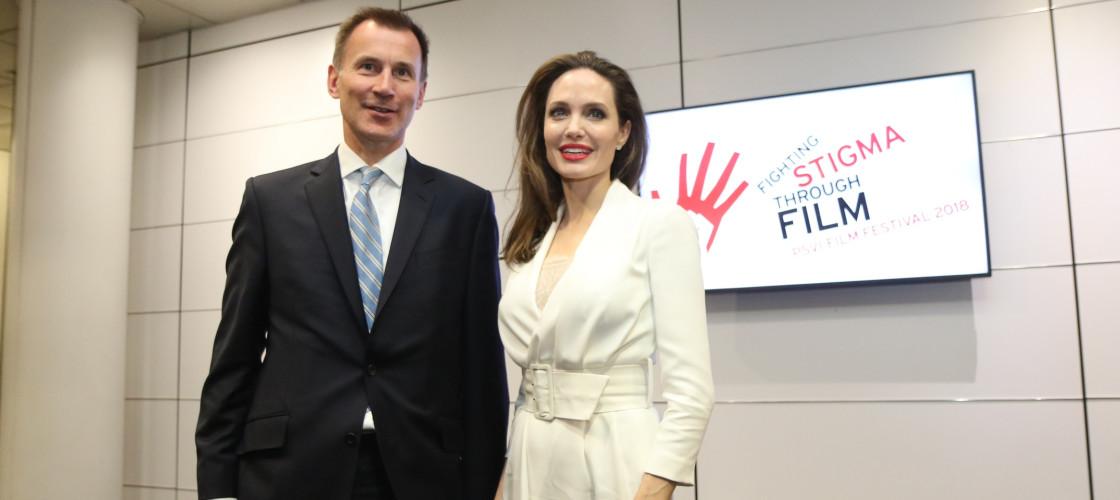 Jeremy Hunt and Angelina Jolie