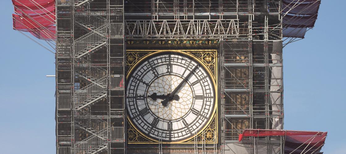 Big Ben undergoing restoration work