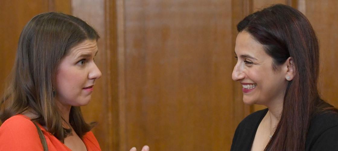 Jo Swinson and Luciana Berger