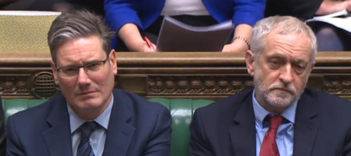 Keir Starmer and Jeremy Corbyn