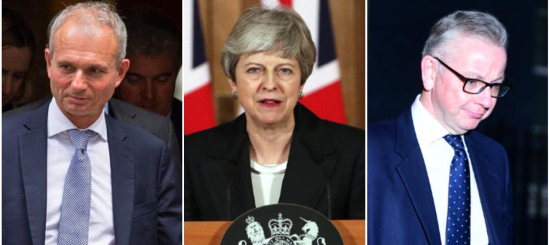 David Lidington, Theresa May and Michael Gove