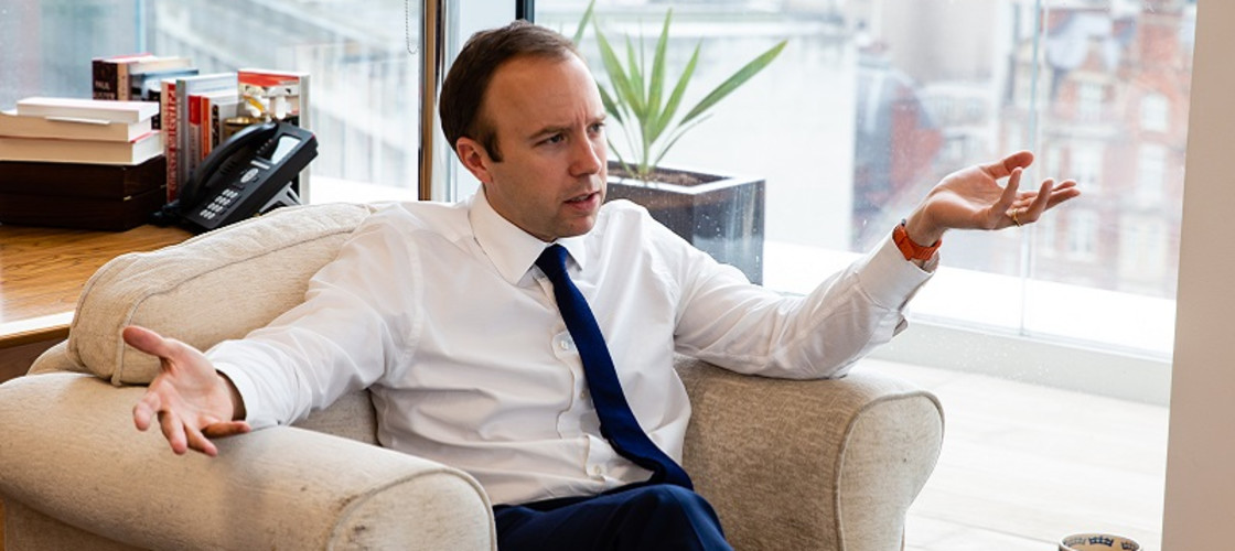 Matt Hancock is running to replace Theresa May as prime minister