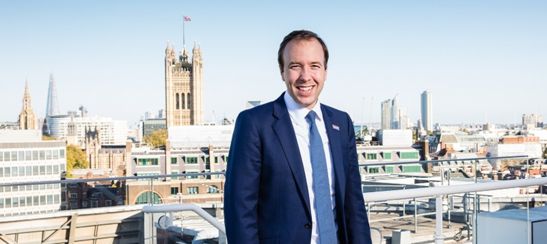 Matt Hancock photographed at the Department of Health in Victoria, London