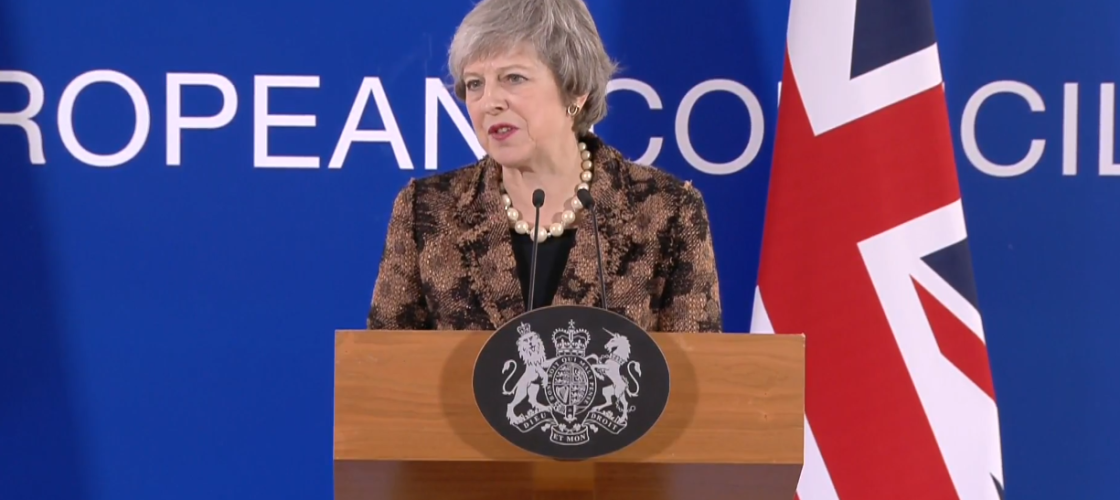 Theresa May at the European Council
