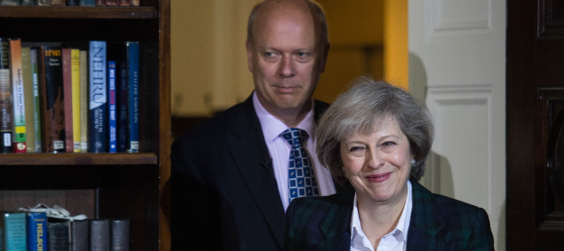 Theresa May and Chris Grayling