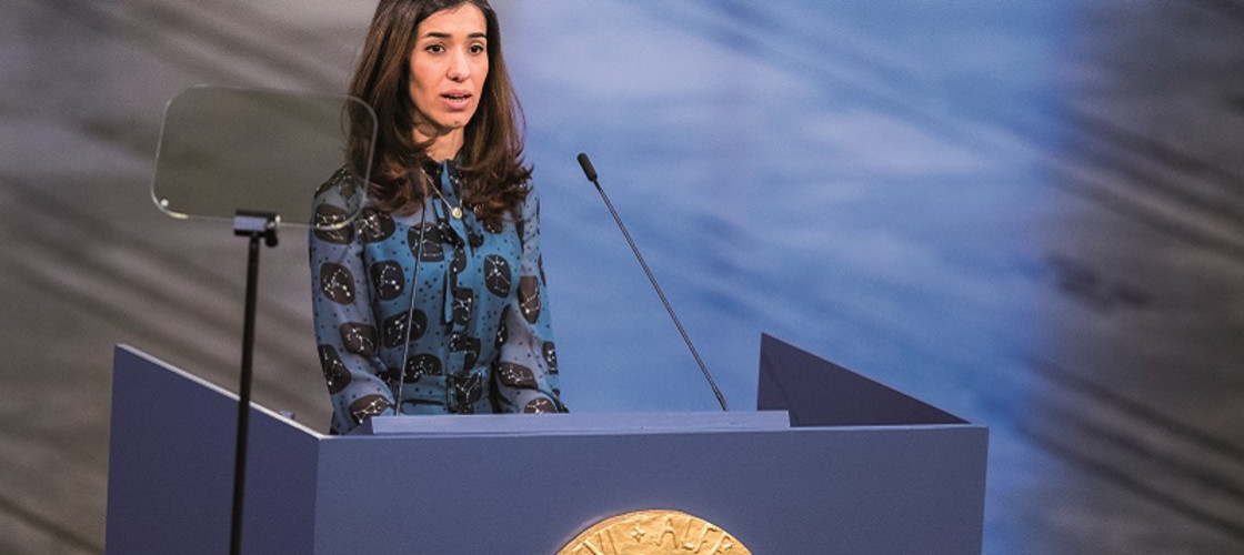 Nadia Murad won the 2018 Nobel Peace Prize along with Dr Denis Mukwege