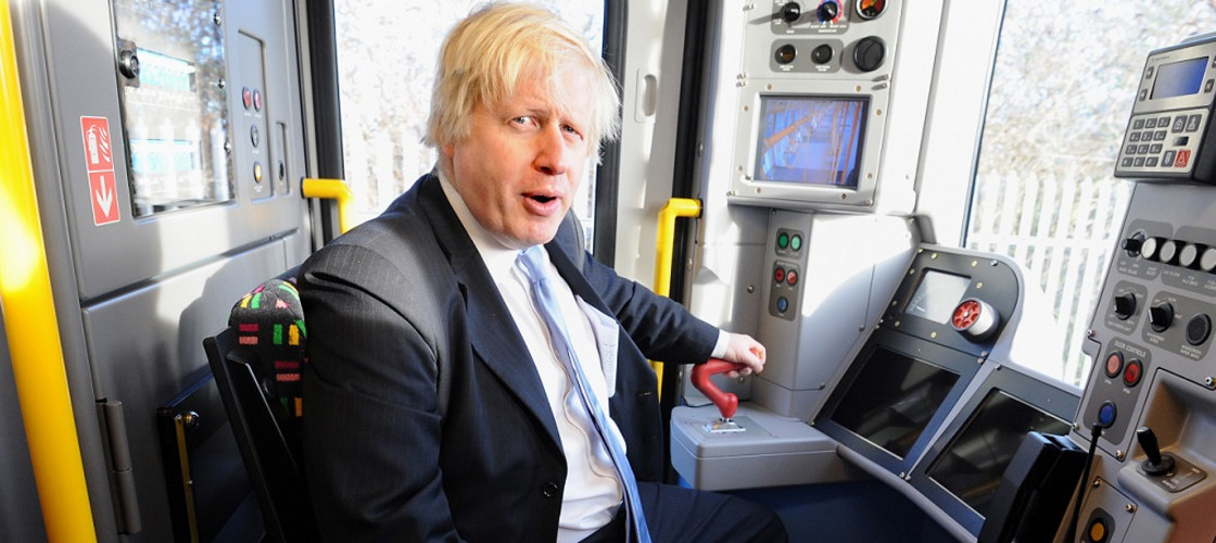 Boris Johnson train