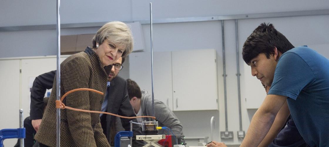 May visits a lab