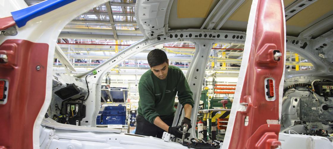 Jaguar Land Rover assembly line