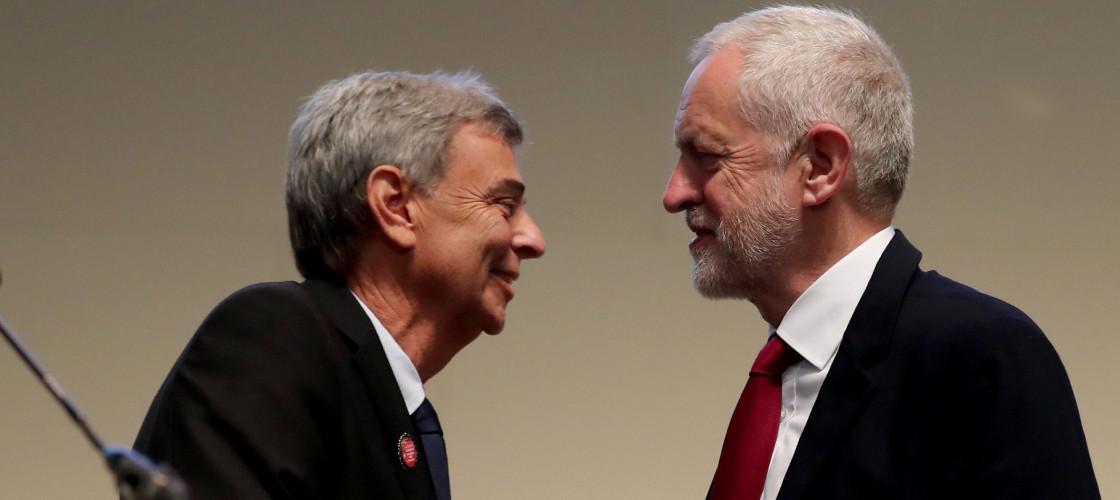 Dave Prentis and Jeremy Corbyn