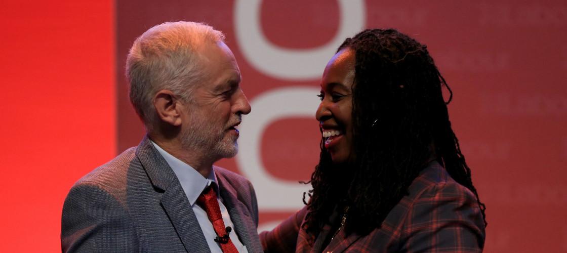 Jeremy Corbyn and Dawn Butler