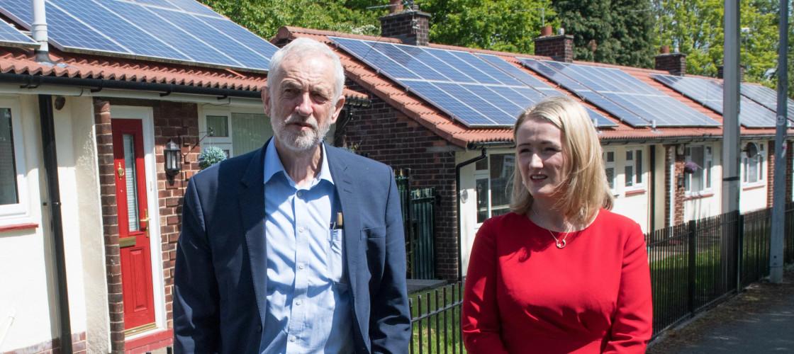 Jeremy Corbyn and Rebecca-Long Bailey