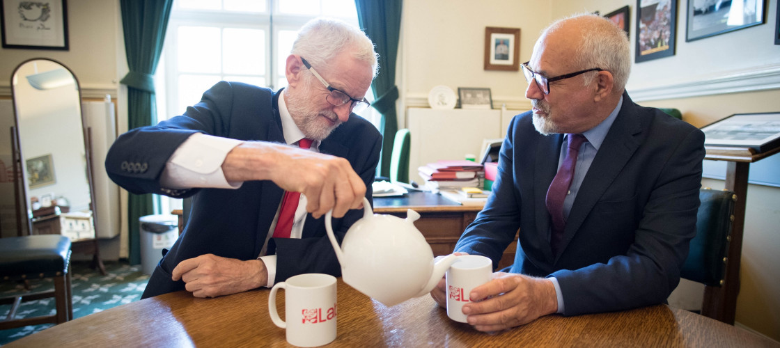 Jeremy Corbyn and Jon Trickett