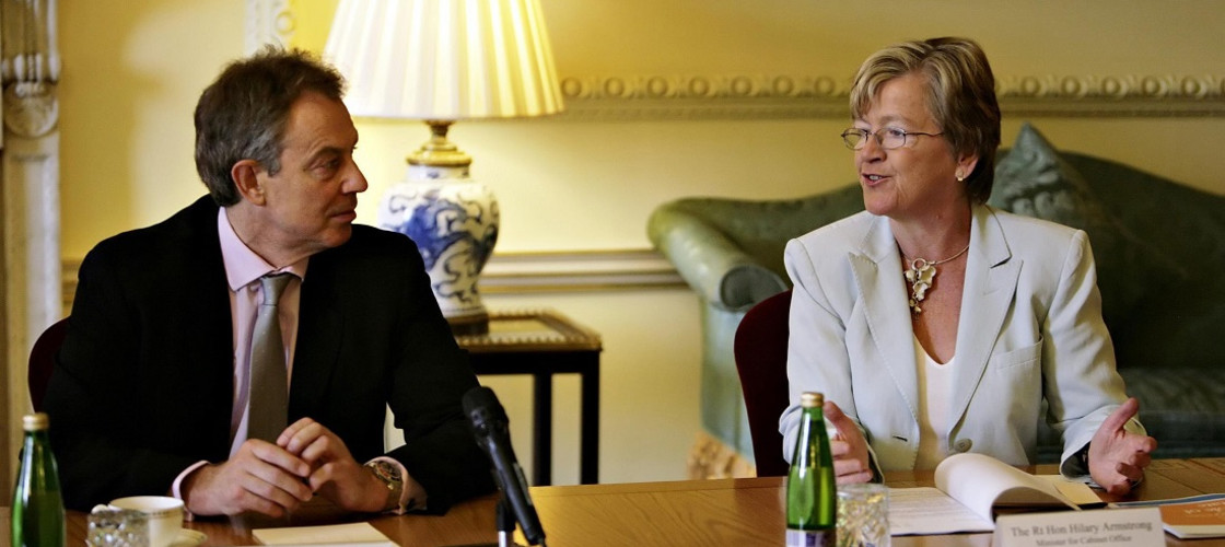 Tony Blair and Hilary Armstrong in 2007