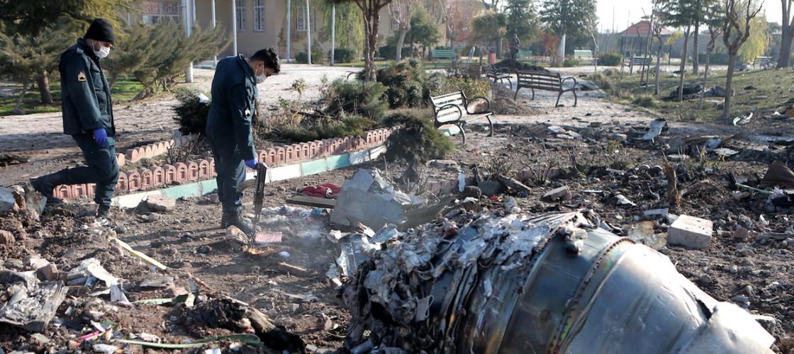 Iran plane crash site