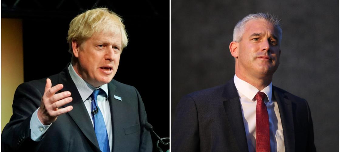 Boris Johnson and Stephen Barclay