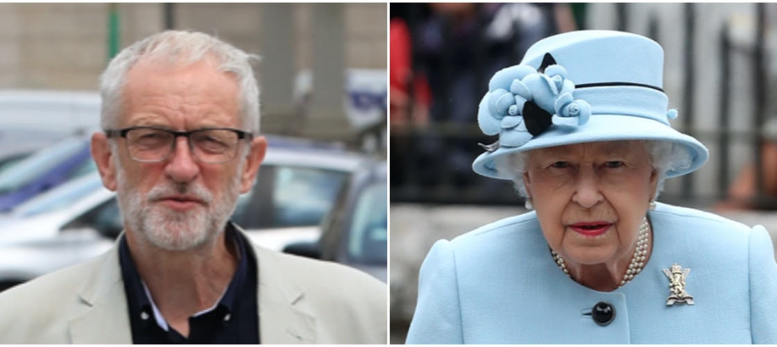 Jeremy Corbyn and Queen Elizabeth II
