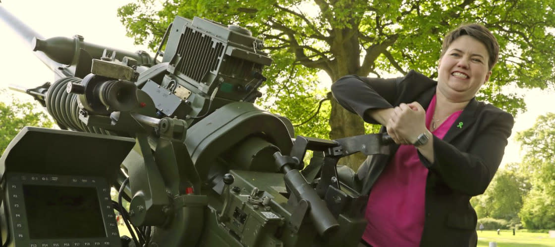 Ruth Davidson artillery gun
