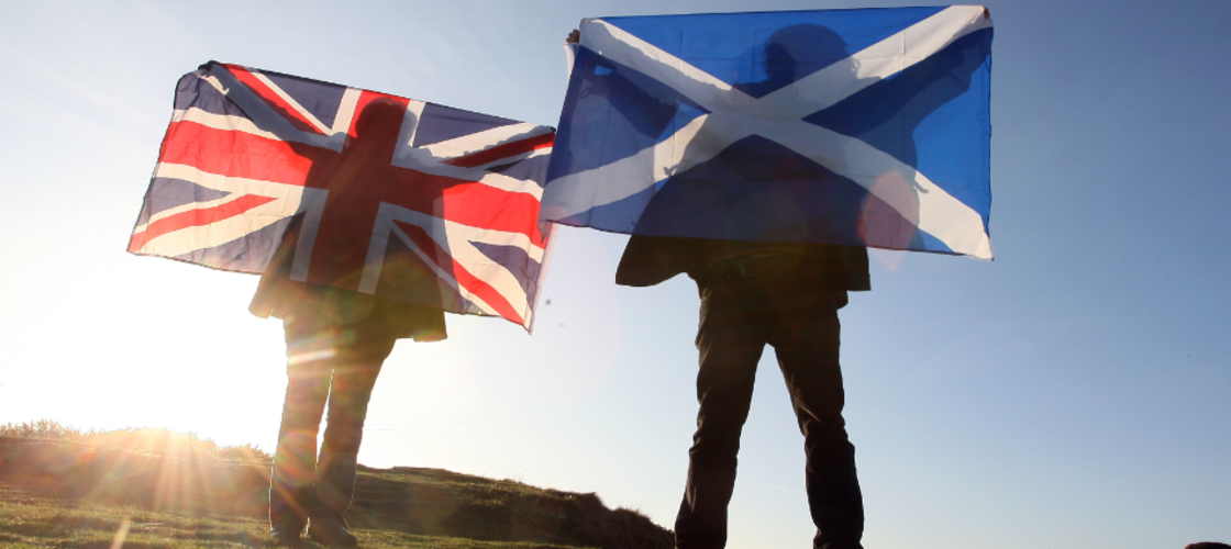 Scotland and England flags