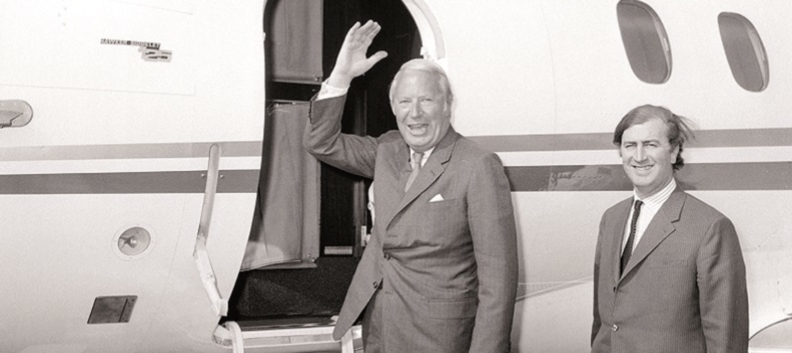 A hopeful wave from Prime Minister Edward Heath, as he leaves for Paris and his summit talks on Common Market entry with French President Pompidou