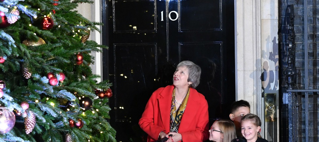 Theresa May's Christmas tree