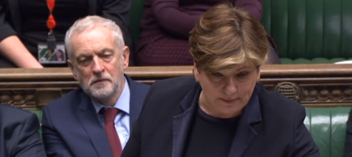 Jeremy Corbyn and Emily Thornberry