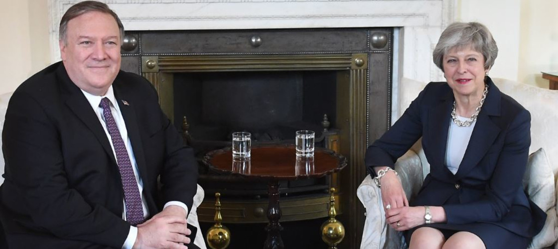 Mike Pompeo and Theresa May met at Downing Street yesterday