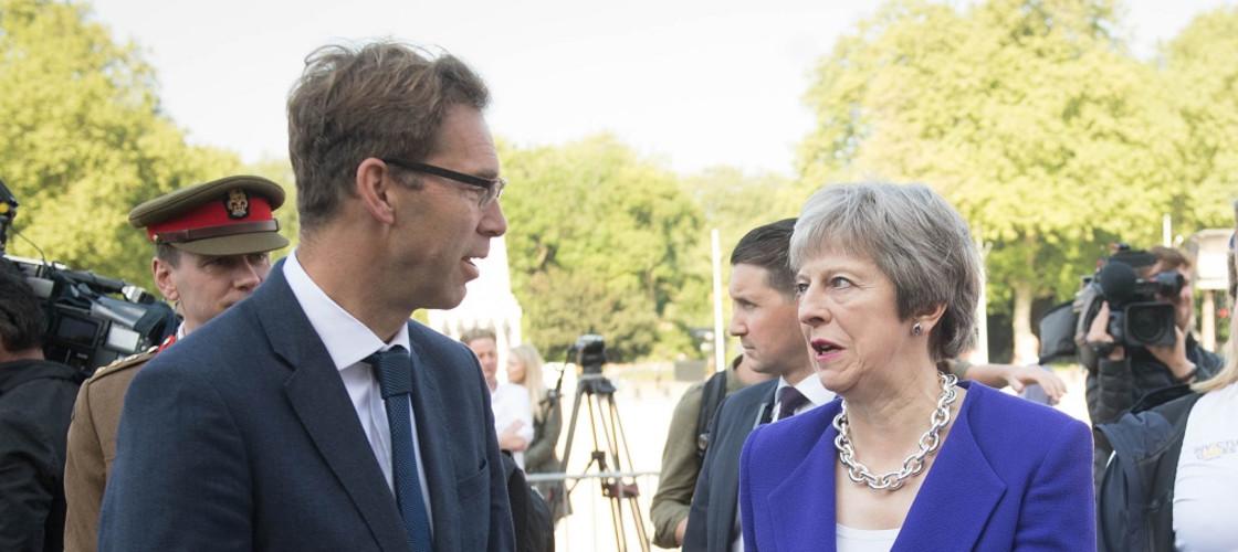 Tobias Ellwood and Theresa May