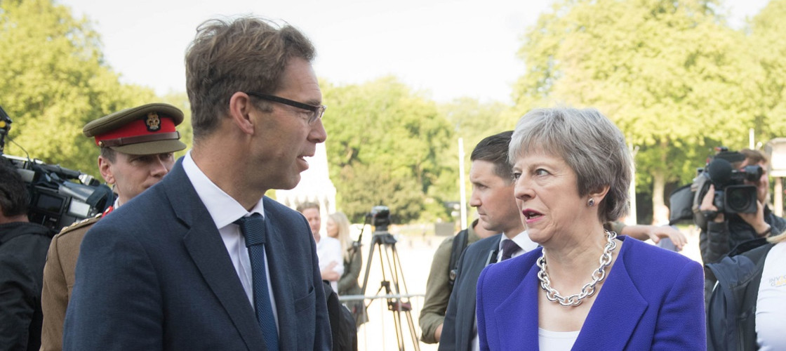 Tobias Ellwood and Theresa May