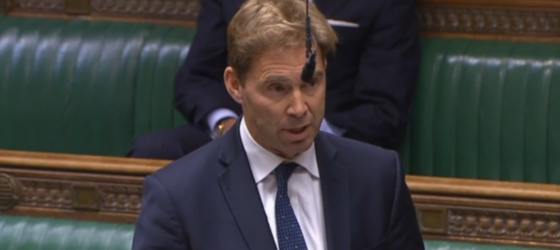 Tory MP Tobias Ellwood speaks in the Commons