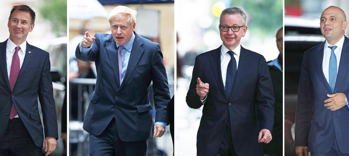 Jeremy Hunt, Boris Johnson, Michael Gove and Sajid Javid