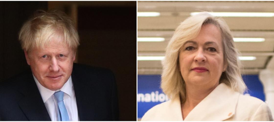 Boris Johnson and Liz Saville Roberts